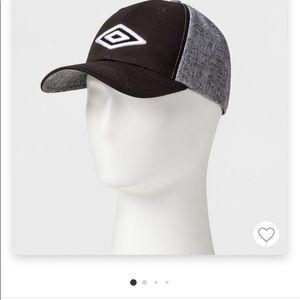 Umbro All Sport Black Gray NWT Snap Back Hat
